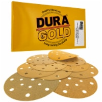 Variety Grit Pack - 6  Gold Sanding Discs - 17-Hole, Hook and Loop, DA Sanders - Box of 50 - Variety Pack - Box of 50