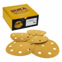 180 Grit - 5  Gold DA Sanding Discs - 9-Hole Pattern Hook and Loop - Box of 50 - 180 Grit - Box of 50