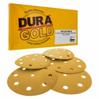 1000 Grit - 5  Gold DA Sanding Discs - 9-Hole Pattern Hook and Loop - Box of 50 - 1000 Grit - Box of 50
