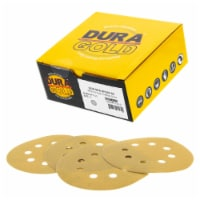 240 Grit - 5  Gold DA Sanding Discs - 8-Hole Pattern Hook and Loop - Box of 50 - 240 Grit - Box of 50