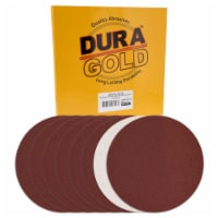 Dura-Gold 10  PSA Sanding Discs - 60 Grit (Box of 8) - Sandpaper Discs with Self Adhesive - 60 Grit - Box of 8