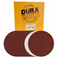 Dura-Gold 10  PSA Sanding Discs - 240 Grit (Box of 8) - Sandpaper Discs with Self Adhesive - 240 Grit - Box of 8