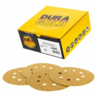 40 Grit - 5  Gold DA Sanding Discs - 8-Hole Pattern Hook and Loop - Box of 25 - 40 Grit - Box of 25