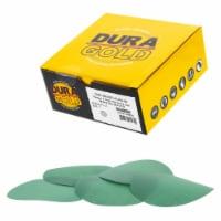 400 Grit - 5  Green Film - Hook & Loop Sanding Discs for DA Sanders - Box of 50 - 400 Grit - 50 Discs
