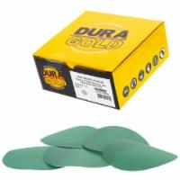 500 Grit - 5  Green Film - Hook & Loop Sanding Discs for DA Sanders - Box of 50 - 500 Grit - 50 Discs