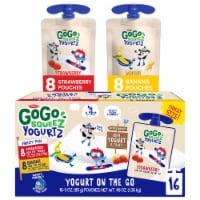 GoGo Squeez Yogurtz Strawberry and Banana Yogurt Pouch Variety Pack - 16 ct / 3 oz