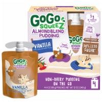 GoGo Squeez Almond Blend Vanilla Pudding - 4 ct / 3 oz