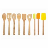 Core Home 214996 Paris Bamboo Utensil Set - 9 Piece