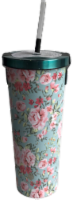 Manna Chilly Tumbler - Teal Flowers