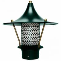 Dabmar Lighting LV-LED106B-G 2.5W & 12V JC-LED Flair Top Pagoda with 3 in. NPT Base - Green