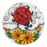 Summerfield Terrace 10018532 Sunflower Lady Bug Garden Stepping Stone, Cement