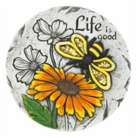 Summerfield Terrace 10018535 Life Is Good Sunflower Stepping Stone, Cement