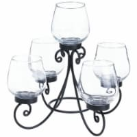 Zingz & Thingz Enlightened Glass Candle Centerpiece in Black - 1