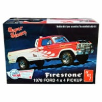 AMT AMT858 Skill 2 Model Kit 1978 Ford 4 x 4 in. Pickup Truck Firestone Super Stones 1 by 25