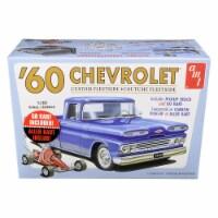 Skill 2 Model Kit 1960 Chevrolet Custom Fleetside Pickup Truck with Go Kart 1/25 Scale Model - 1