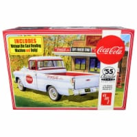 AMT AMT1094 Skill 3 Model Kit 1955 Chevrolet Cameo Pickup Truck Coca-Cola with Vintage Vendin