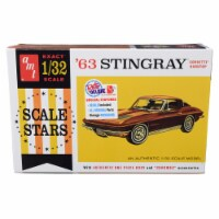 AMT AMT1112 Skill 2 Model Kit 1963 Chevrolet Corvette Stingray Hardtop Scale Stars 1 by 32 Sc