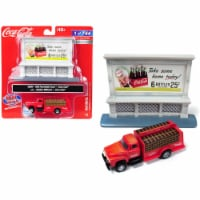 1954 Ford Bottle Truck Red \Coca-Cola\ with Outdoor Billboard \ Coca-Cola\  Model - 1