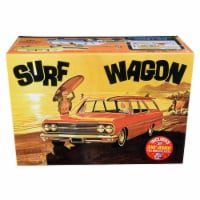 AMT AMT1131 Skill 2 Model Kit 1965 Chevrolet Chevelle Surf Wagon with Two Surf Boards 4 in 1