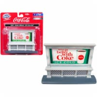Outdoor Billboard 60\'s \Coca Cola\ for 1/87 (HO) Scale Models by Classic Metal Works - 1