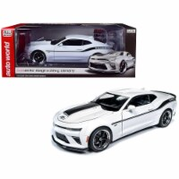 Autoworld AW253 1 by 18 Scale Diecast for 2018 Chevrolet Camaro Yenko -SC Stage II Coupe Whit - 1