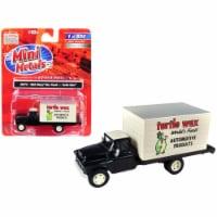 1955 Chevrolet Box Truck \Turtle Wax\ Black and Cream 1/87 (HO) Scale Model - 1