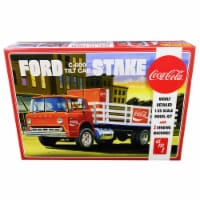 Skill 3 Model Kit Ford C600 Stake Bed Truck with Two \Coca-Cola\ Vending Machines - 1