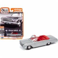 Autoworld 64262-AWSP045A 1-64 Scale 1962 Chevrolet Impala SS 409 Convertible Satin Silver Met - 1