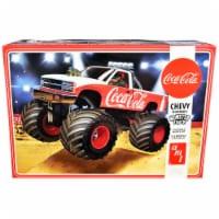 Skill 2 Model Kit Chevrolet Silverado Monster Truck \Coca-Cola\ 1/25 Scale Model by AMT