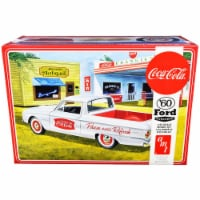 Skill 3 Model Kit 1960 Ford Ranchero with Vintage Ice Chest and Two Bottle Crates \Coca-Cola\ - 1
