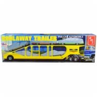 Skill 3 Model Kit Haulaway Trailer Five-Car Automobile Transporter 1/25 Scale Model by AMT - 1