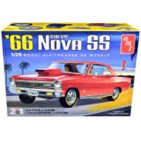 AMT AMT1198M Skill 2 Model 1966 Chevrolet Nova SS 2-in-1 Kit for 1 by 25 Scale Model