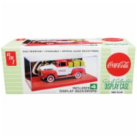 AMT AMT1199 Collectible Display Show Case with Red Display Base & 4 Coca-Cola Backdrops for 1