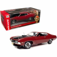 1970 Ford Torino Cobra Red with Black Hood \Class of 1970\ 1/18 Diecast Model Car - 1