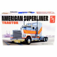 Skill 3 Model Kit American Superliner Semi Tractor 1/24 Scale Model by AMT - 1