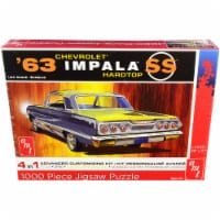 Jigsaw Puzzle 1963 Chevrolet Impala SS Hardtop MODEL BOX PUZZLE (1000 piece) by AMT - 1
