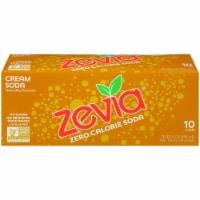 Zevia Cream Soda Zero Calorie Soda - 10 cans / 12 fl oz