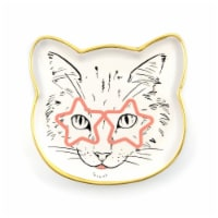 Cat Dish Plate   Small Ceramic Catchall Dish For Treats, Keys, Change, & More - 1 Each