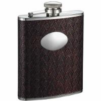 Visol VF1318 Visol Zandor Reddish Black Stainless Steel Hip Flask - 6 oz