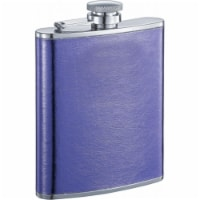 Visol VF1241NP Violet Purple Leather Liquor Flask - 6 oz - 1