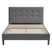Classic Brands Seattle Modern Tufted Platform Bed Frame, King, Antonio Mid Night - 1 Piece