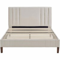 Classic Brands Chicago Modern Tufted Upholstered Platform Bed Frame, Full, Shell - 1 Piece