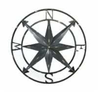 20 Inch Distressed Metal Compass Rose Nautical Wall Decor Indoor or Outdoor Wall Decor, Black - One Size