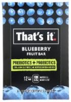 That's It Prebiotics + Probiotics Blueberry Fruit Bars - 12 ct / 1.2 oz