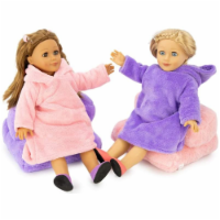 """Playtime by Eimmie Puffy Plush Sleepover 18 Inch Doll Outfit with 2 Plush Chairs - 18"""""""