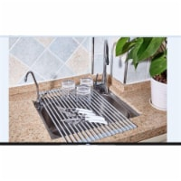 True & Tidy Roll-Up Drying Rack, Gray