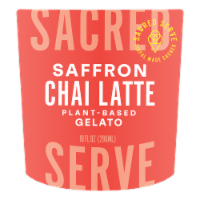 Sacred Serve Saffron Chai Latte Gelato - 10 oz