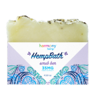 Harmony Hemp HempBath Lavendar Oats Scrub Bar 35 mg AVAILABILITY LIMITED TO PHARMACY HOURS
