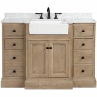 Ari Kitchen & Bath Kelly 48  Solid Wood Bathroom Vanity in Weathered Fir - 1