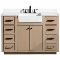 Ari Kitchen & Bath Andrea 48  Solid Wood Bathroom Vanity in Oak Gray - 1